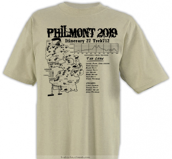 philmont t-shirt design with 1 ink color - #SP6798