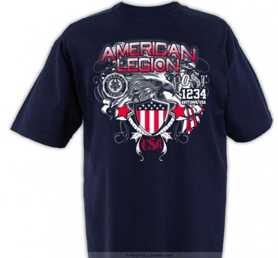 American Legion Shield and Eagle T-shirt Design on Back
