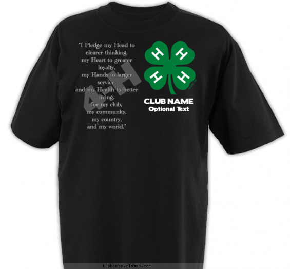 Best Two Color 4-H Club T-Shirt of 2019