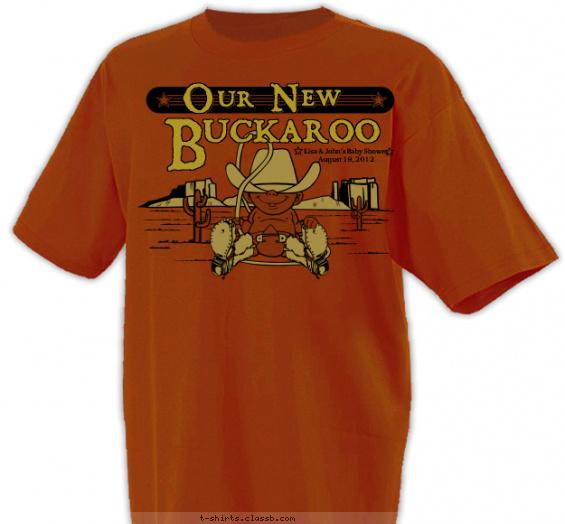 Cowboy Baby Shower Shirt T Shirt Design