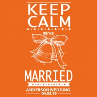 SP6006 SP6006 Keep Calm We're Married