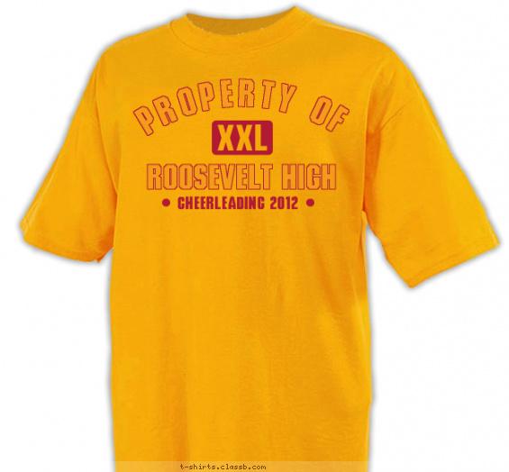 Cheerleading design sp1984 cheerleading property of shirt for Property of shirt designs