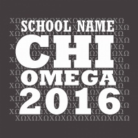 SP6263 Chi Omega Text Pattern