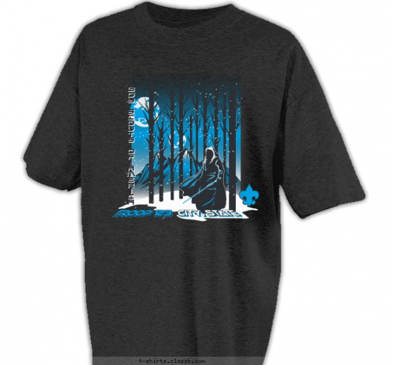SP6460 Warrior and Snowy Mountains T-shirt Design