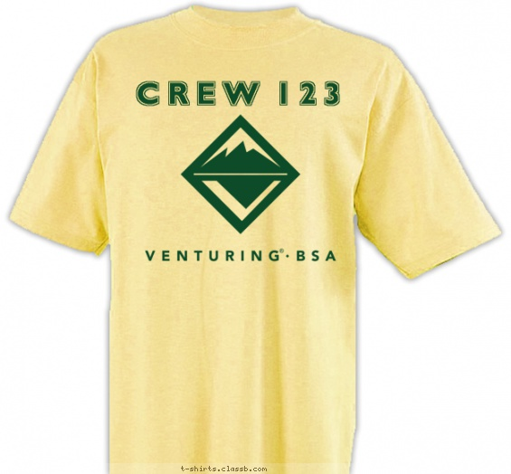 Venturing Logo 1 Color T-shirt Design
