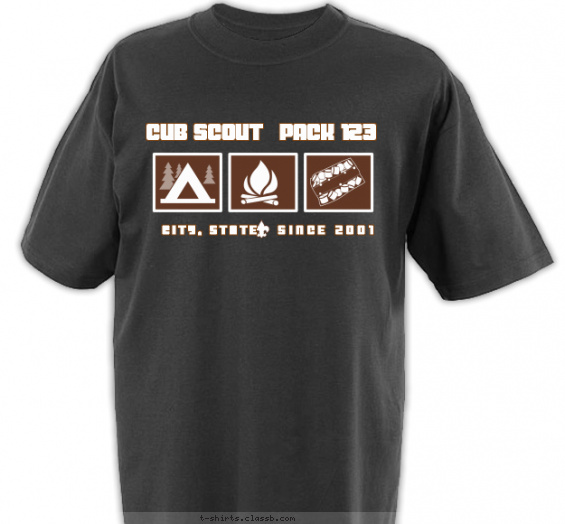 Cub Scout Pack Design Sp2537 Pack Camp Out Code Shirt