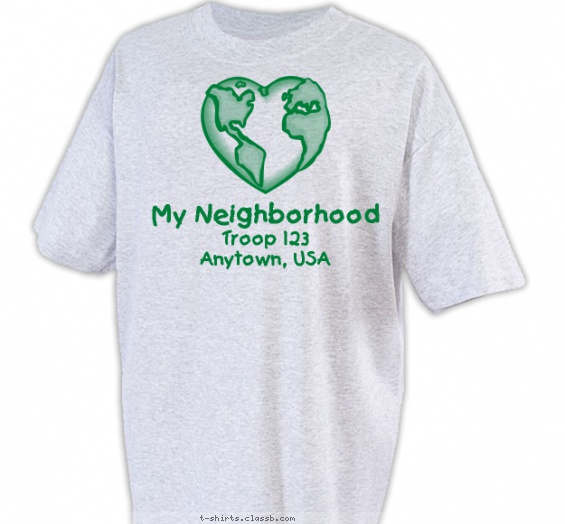 Girl Scout T Shirt Design Ideas Girl Scout Troop Design SP335 My Neighborhood