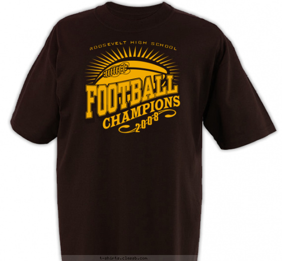 Starburst Football Champions T Shirt Design