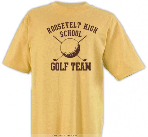 Team spirit golf tee t shirt design for Team t shirt ideas
