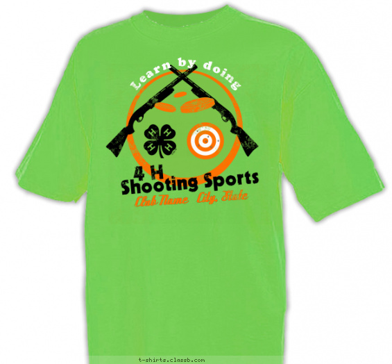 4-H Shooting Sports T-shirt Design