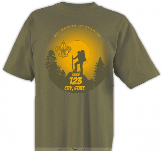 Troop Moon Silhouette T-shirt Design