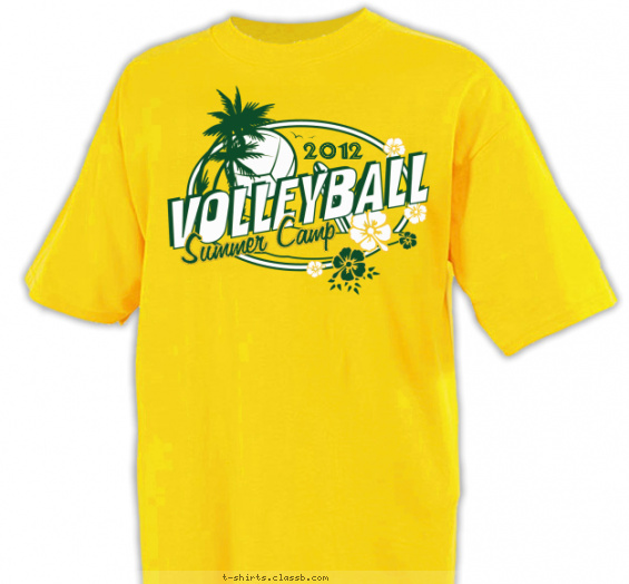 Volleyball Summer Camp Shirt T Shirt Design
