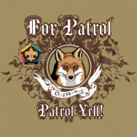 SP3702 Wood Badge Filigree Fox