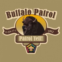 SP3709 Buffalo Wood Badge