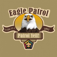 SP3710 Eagle Wood Badge