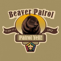SP3711 Beaver Wood Badge