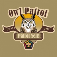 SP3714 Owl Wood Badge