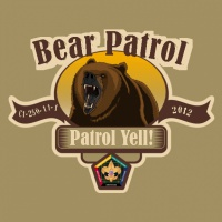 SP3715 Bear Wood Badge