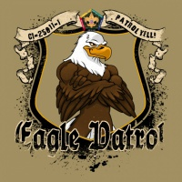 SP3717 Wood Badge Eagle on Shield