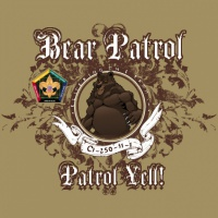 SP3729 Wood Badge Filigree Bear