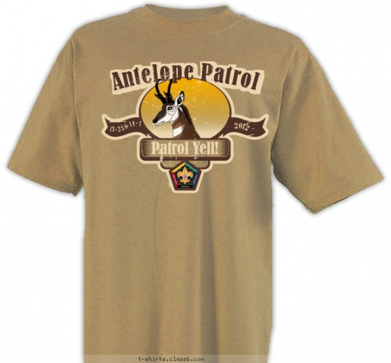 Antelope Woodbadge T-shirt Design