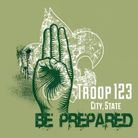 SP3603 Be Prepared Scout Sign