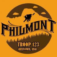 SP3783 Philmont Tooth of Time Silhouette