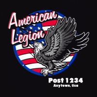 SP4440 American Legion American Flag Oval