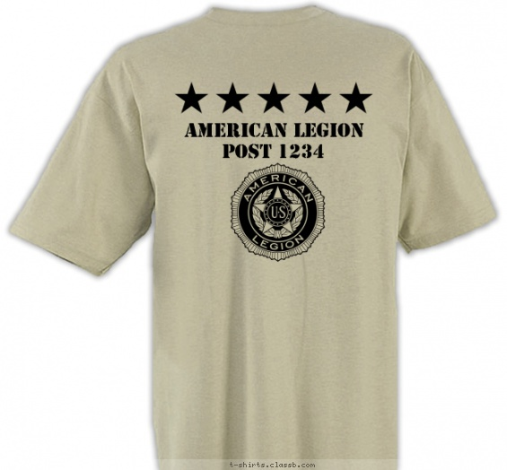 American Legion Flag Pole T-shirt Design