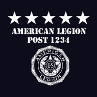 SP4412 American Legion Dark Badge Emblem