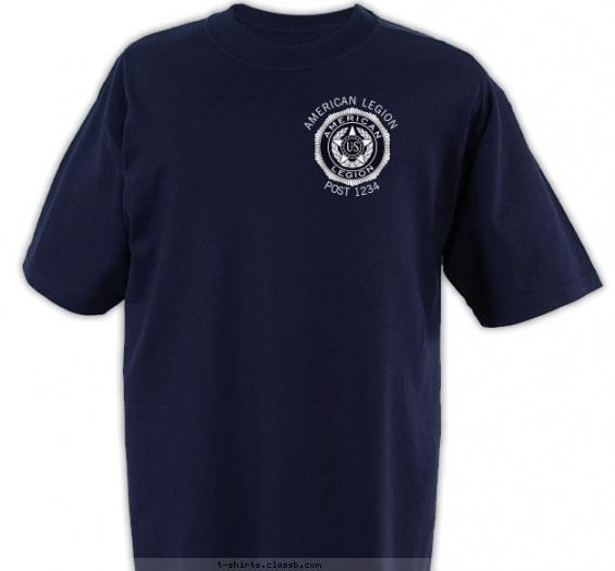 American Legion Dark Badge Emblem T-shirt Design