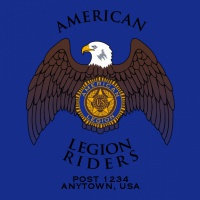 SP4450 Color American Legion Riders with Eagle