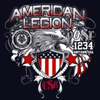 SP4462 American Legion Shield and Eagle