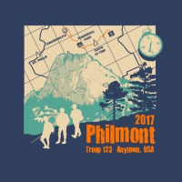SP4749 Philmont, Tooth of Time, Hikers, Compass, Map