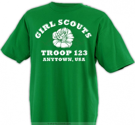 girl scout troop design sp4942 sp4942