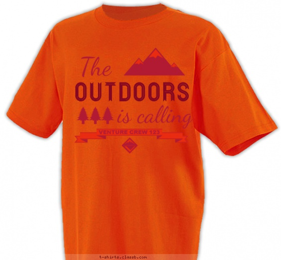 The Outdoors is Calling! T-shirt Design