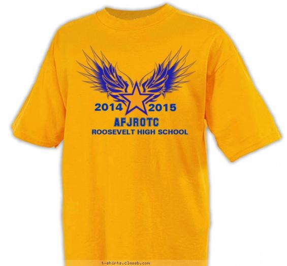Jrotc design sp5518 wings on singe star for Jrotc t shirt designs